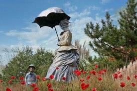 Image of Seward Johnson's 'On Poppied Hill'