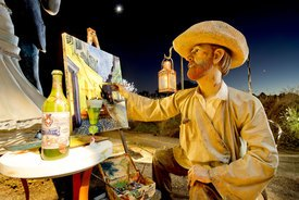 Image of Seward Johnson's 'Painting by the Glow of the Green Fairy'
