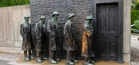 Image of George Segal's 'Depression Breadline'