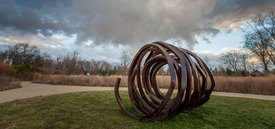 Image of Bernar Venet's 'Three Indeterminate Lines'