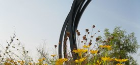 Image of Bernar Venet's '81.5˚ Arc x 8 (Vertical Arcs)'